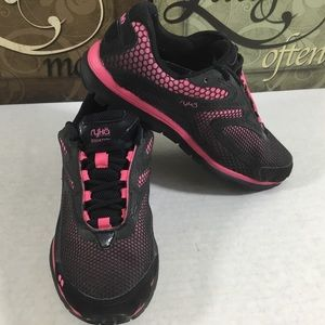 Ryka Equation Black/Pink Cross-Training Sneakers